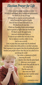 Election Prayer for Life