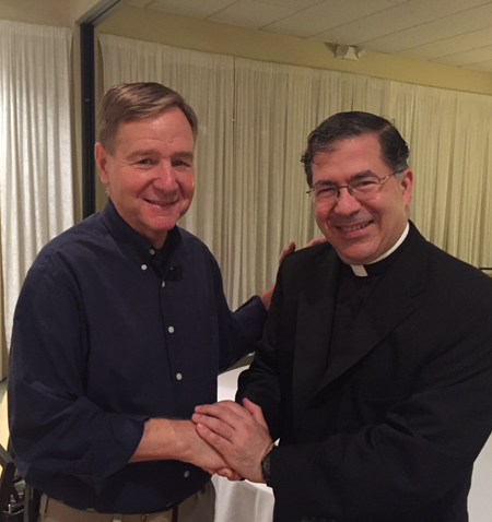 Mayor Jim Tulley welcomes Priests for Life to Titusville