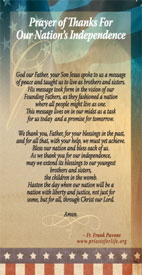 Independence Day Novena Prayer Cards