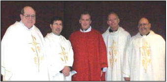 Priests on the Pastoral team include Fr. Walter Quinn, OSA (l.), Fr. Frank Pavone,