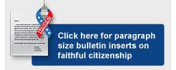Click here paragraph size bulletin inserts on faithful citizenship