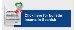 Click here for Spanish bulletin inserts