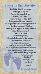 Prayer to End Abortion