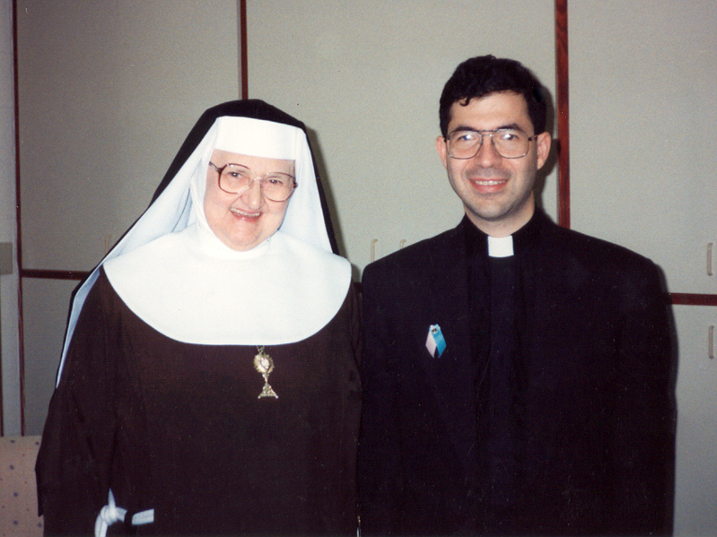 Mother Angelica with Fr. Frank Pavone