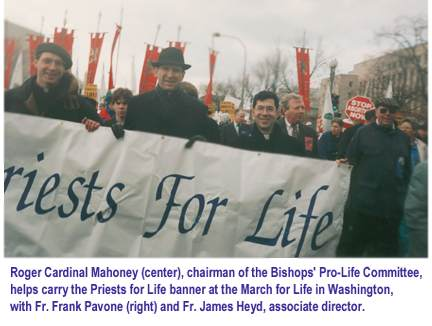 Photo: Priests for Life at the March for Life (23878 bytes)